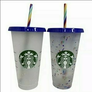 STARBUCKS CONFETTI CHANGING COLOR CUP 🌈